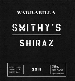 2018 Smithy's Shiraz bottle
